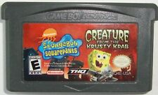 SPONGEBOB CREATURE FROM KRUSTY KRAB NINTENDO GBA VIDEO GAME  WORKING CART ONLY