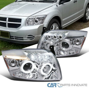 For 07-12 Dodge Caliber LED Halo Projector Headlights Signal Lamps Left+Right