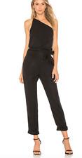 Paige Black Women's Size Large L One Shoulder Pocket Jumpsuit - #900