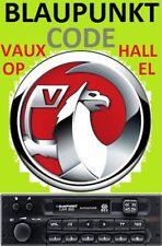 Unlock Pin Code provided BLAUPUNKT VAUXHALL OPEL CORSA Radio Stereo