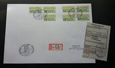 Germany 1982 ATM (Frama Label stamp FDC) *addressed *rare