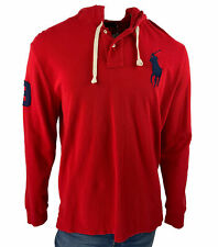 Polo Ralph Lauren Men's Mesh Cotton Long Sleeve Hoodie Red Size Large