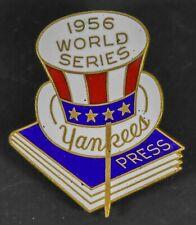 Vintage Rare Original 1956 New York Yankees World Series Baseball Press Pin