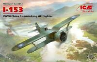 ICM 32012- I-153, WWII China Guomindang AF Fighter 1/32 scale model kit 196 mm