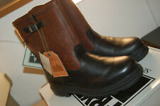 NIB Frye Riley Pull On leather boot Snow winter wool lined Black Size 9.5 M $398
