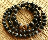 Collier Agate Perles Anciennes Antique Banded Agate Suleimani Beads Necklace