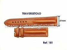 EBERHARD cinturino marrone x TRAVERSETOLO 21mm leather strap ref 181 x 21016 ...