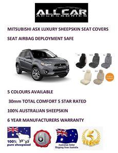 Sheepskin Car Seatcovers for Mitsubishi ASX, Seat Airbag Safe, 5 Colours.30mm TC