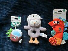 Lot of 3 Lamaze Developmental Toys Brand New Tomy Gund Owl Rattle Baby Toothpick