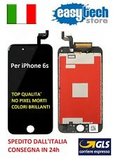 TOUCH SCREEN  LCD Display RETINA TOP x Apple iPhone 6S Vetro SCHERMO NERO