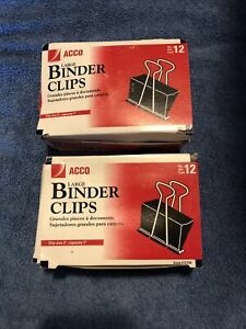 Big Binder Clips Paper Bag Strong Clamps Large Jumbo Size 2 Boxes 23 Clips .