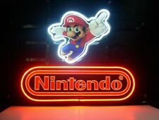"New Nintendo Super Mario Neon Light Sign 20""x16"" Beer Cave Gift Lamp Bar Glass"