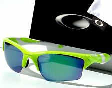 NEW* Oakley HALF JACKET 2.0 Neon Green Fingerprint Blue XL Lens Sunglass 9154-53