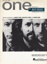 One - Bee Gees - 1989 US Sheet Music