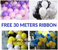 "10-100 Plain LATEX BALLOONS, 10"", Helium. Party, Birthday, Wedding, Christening"