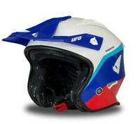 UFO Sheratan Urban Street Trials Helmet Red White Blue - All Adult Sizes