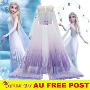 New Release Frozen2 Girls Princess Elsa Anna Dress Birthday Party Costume Tutu