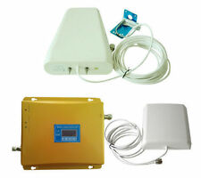 Dual Band 900/2100 MHz GSM WCDMA Mobile Phone Signal Booster Repeater Amplifier