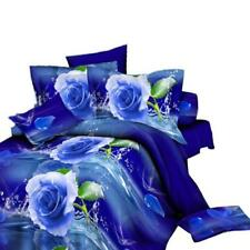 Set of 4Pcs 3D Rose Duvet Cover Pillow Case Quilt Cover Bedding Double Comfort