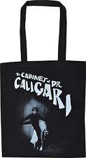 DR CALIGARI BLACK COTTON TOTE VINTAGE HORROR SILENT FILM CULT NOIR SHOPPER BAG