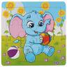 1 set Enfants Motif petit Elephant Puzzles en bois Y5U2