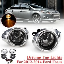 For Ford Focus 2012 2013 2014 Front Fog Light Lamps w/ Cover Wiring Bulbs Kit