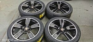 """21"""" AFTERMARKET GLOSS BLACK ALLOY WHEELS AND TYRES TO FIT PORSCHE CAYENNE"""