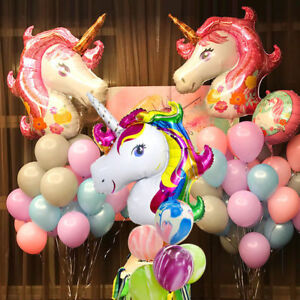 Unicorn Large Rainbow Balloons Foil Helium Baloons Happy Birthday Party Gifts