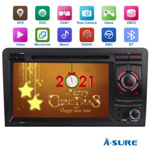 "7"" Autoradio DVD GPS Navi  BT WLAN RDS Multimedia für Audi A3 S3 RS3 8P 8V DAB+"