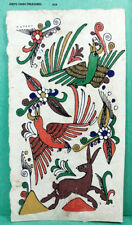 VINTAGE AMATE BARK PAPER PAINTING 6 x 3.50 INCHES COLOR on WHITE FROM MEXICO #19