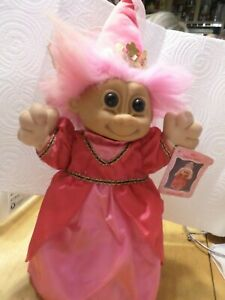 Russ Troll Kidz - Penelope - Pink Hair Princess - 14 1/2 inches  with tag