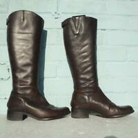 Dune Leather Boots Size Uk 5 Eur 38 Womens Ladies Shoes Brown Boots