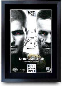 UFC 229 Fight Khabib Nurmagomedov vs Conor McGregor A3 Poster Signed Autograph