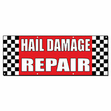 Hail Damage Repair Auto Body Shop Car Repair Banner Sign 2' x 4' /w 4 Grommets