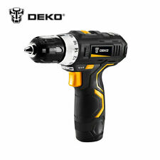 DEKO 12V Electric Cordless Drill Mini Drill Lithium-Ion Battery 32N.m 2-Speed
