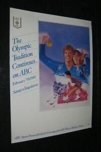 Original 1984 ABC TV SARAJEVO WINTER OLYMPICS Medals Speed & Ice Skating Skiing