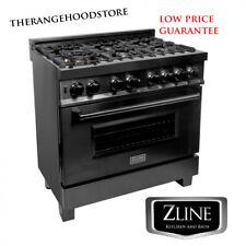 "New Pro Zline 36"" Black Stainless 6 Gas Burner/Electric Oven Range (Rab-36)"