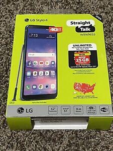 """New Straight Talk LG Stylo 4 4G LTE 6.2"""" Screen 16GB PREPAID Smart Phone"""