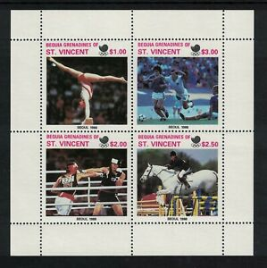 1988 St Vincent - Bequia UNISSUED Olympics Set of 4 in Sheetlet (C20)