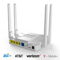 Unlocked 4G LTE Router AT&T T-Mobile Verizon SIM Card Slot 1200Mbps Wifi Hotspot