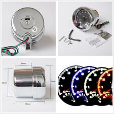 "Universal 3.75"" 7-Color LED Car SUV Tachometer Adjustable 0-8000 RPM Shift-Light"