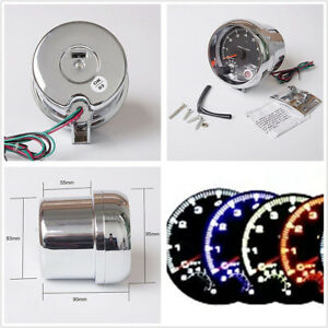 "Universal 3.75"" 7-Color LED Car SUV Tachometer Adjustable 0-8000 RPM Shift-Light"