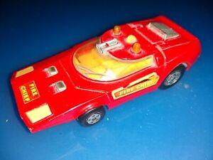 MATCHBOX SUPERKINGS K - 32 /40 SHOVEL NOSE Red 1971 Lesley FIRE CHIEF