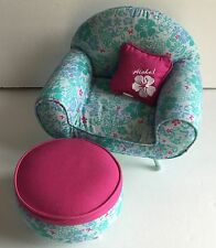 Kanani Hawaiian American Girl Doll Lounge Chair Set