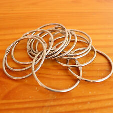 12 Pieces 2 Inch Metal Loose Leaf Binder Rings Large Book Ring Easy