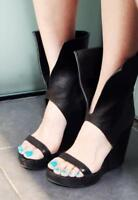 HOT Womens High Wedge Heels Open Toe Roma Boots Gladiator Shoes Platform Sandals