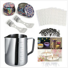 Complete Candle Making Kit Supplies Pouring Pot Wicks Wicks Holder Home DIY Gift