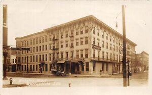 H46/ Springfield Illinois RPPC Postcard c1910 St Nicholas Hotel Building