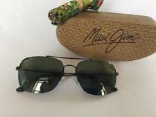 New Maui Jim LAVA TUBE Polarized Titanium Sunglasses 786-2M Matte Black/Gray