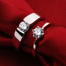 Buy 1 get 3 Free Jewelry Sapphire White Gold Plated His Her Wedding Ring NEW